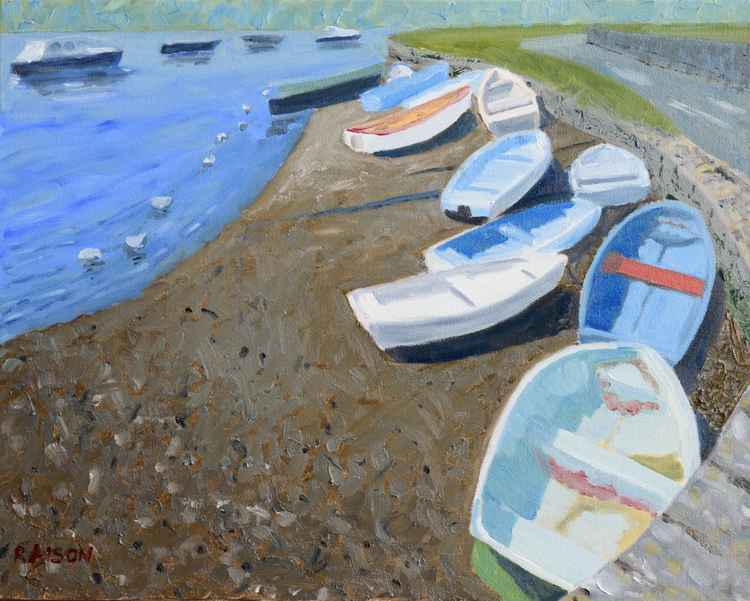 Boats on the River Stour, Dorset -
