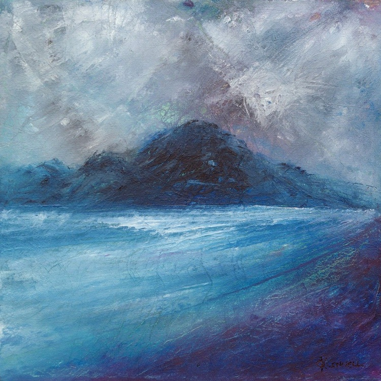 Loch Broom Scottish coastal seascape landscape painting - Image 0