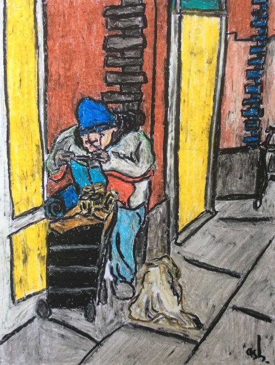 Poundland, Homeless Man and Dog - Image 0
