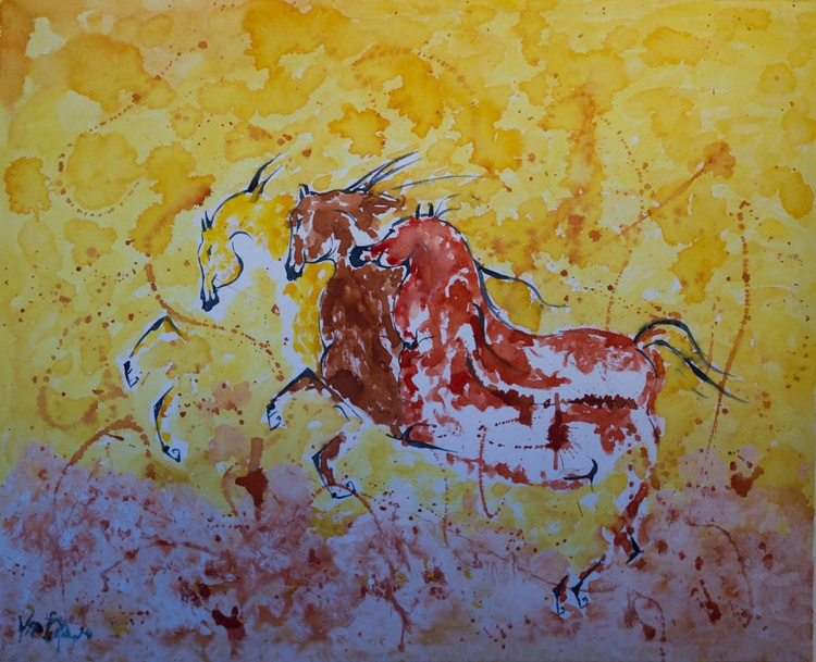 Horses on fire - Image 0