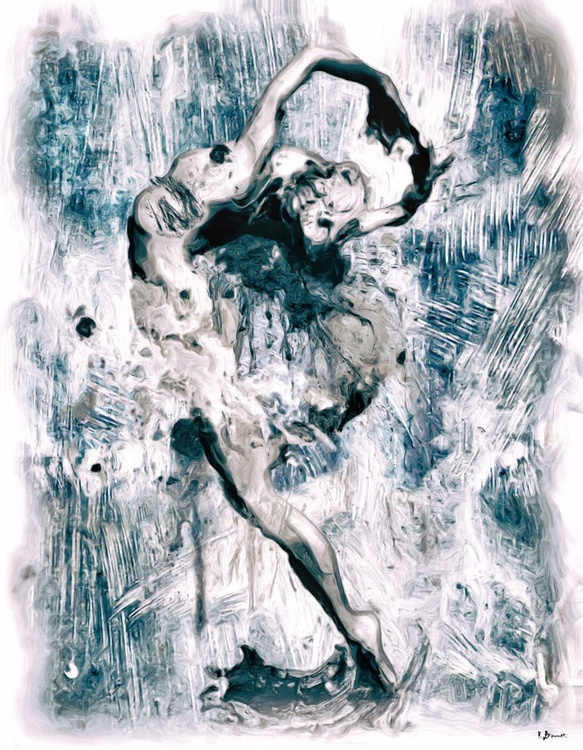 Wild Dancer - Limited Edition of 10 - Digital Oil Painting - Image 0