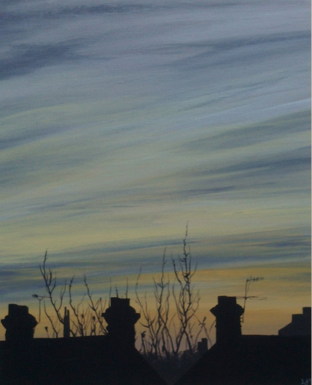 Sunset Over Rooftops II - Image 0