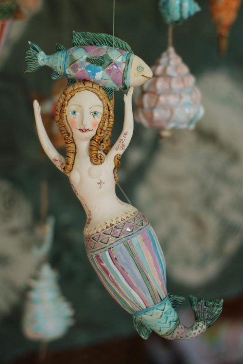 Underwater Baroque Project - Mermaid. Hanging sculpture. - Image 0
