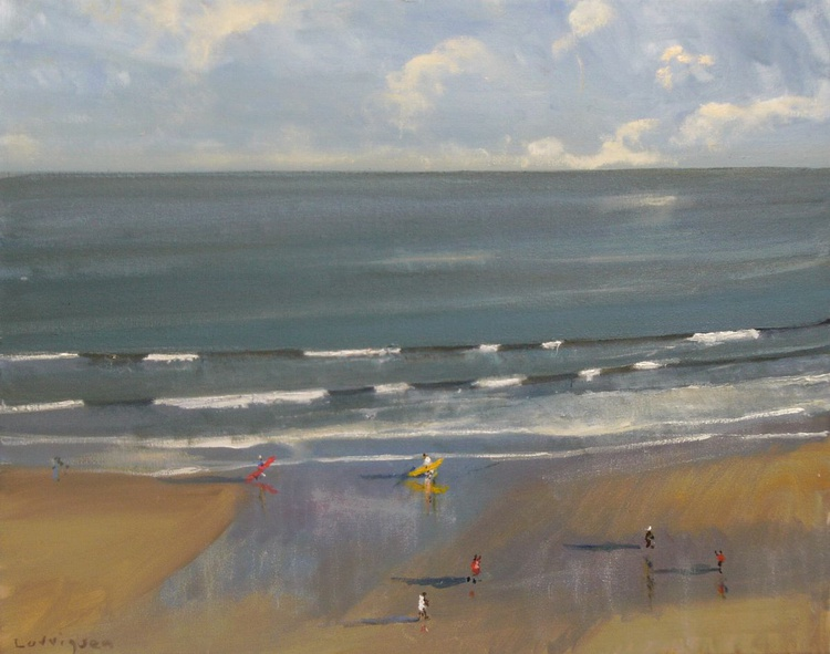 Surfers on Scarborough Beach - Image 0