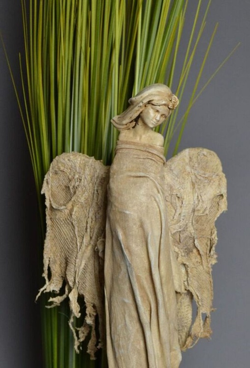 Guardian Angel Sculpture (Ivory) - Image 0