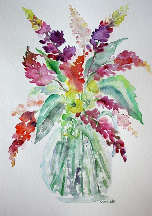 Lupine Flowers in Vase - Image 0