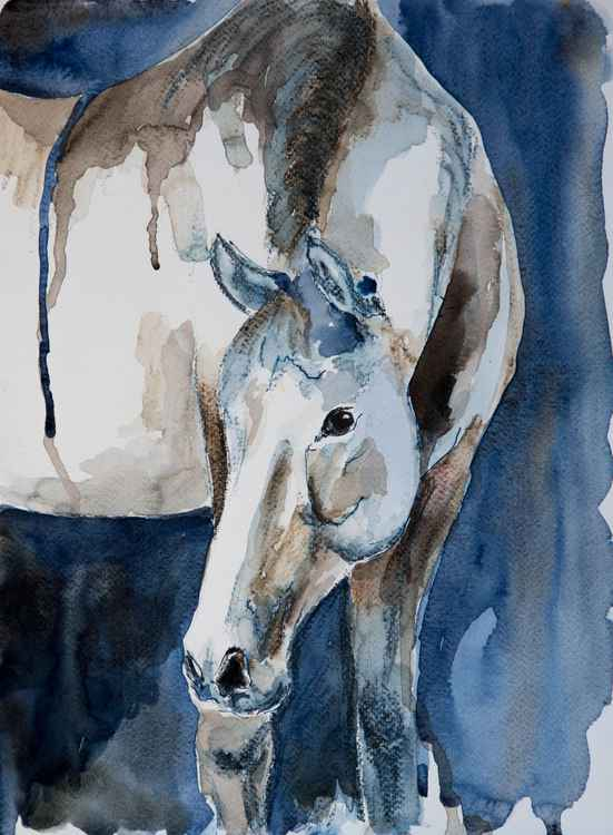 """Sienna"", original watercolour painting, 11.2""x15.2""(28x38cm) -"