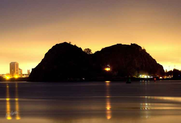 Dumbarton Rock at Night -