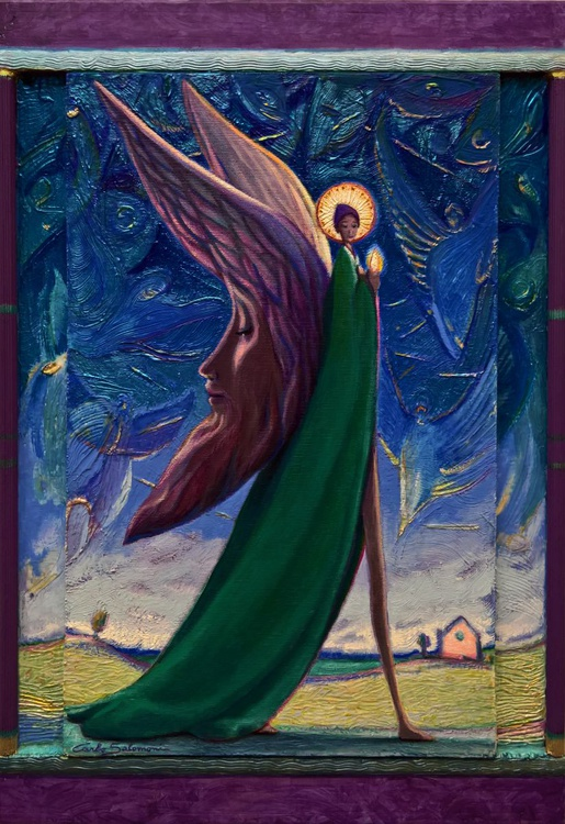 THE ANGEL OF THE MOONS -( framed - Triptych ) - Image 0