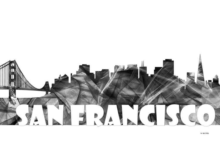 San Francisco, California Skyline BG2 -