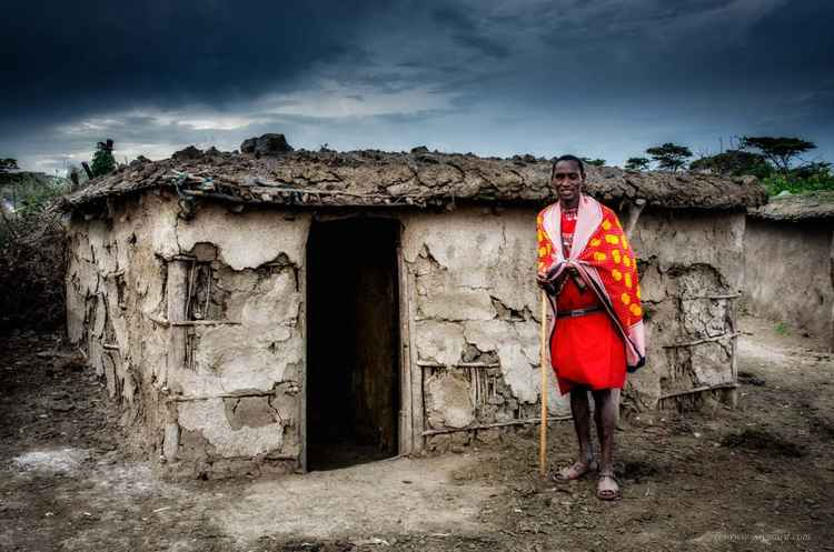 The chief of the Masai's vilage -