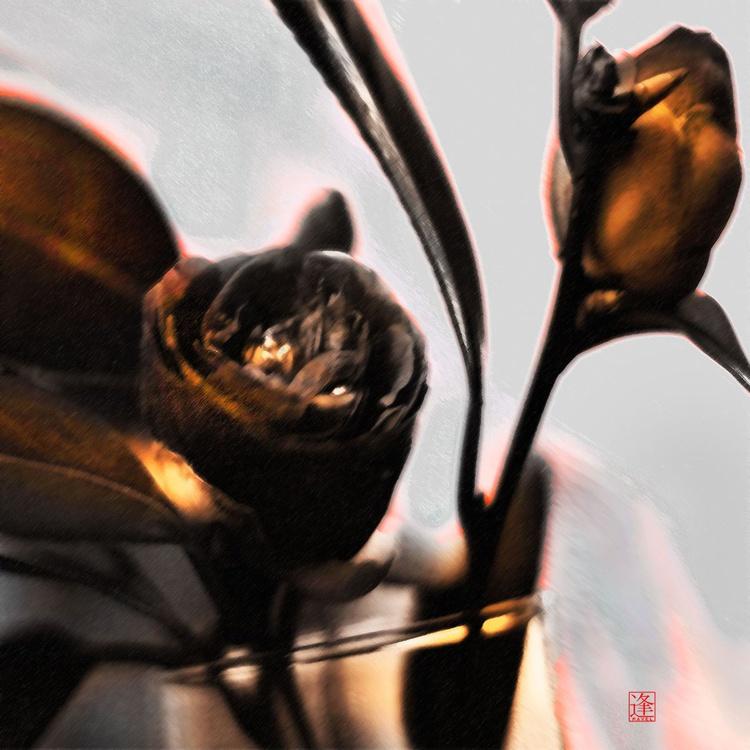 Camellias - Monoprint - Image 0