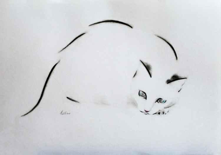 Crouching Cat 2 -