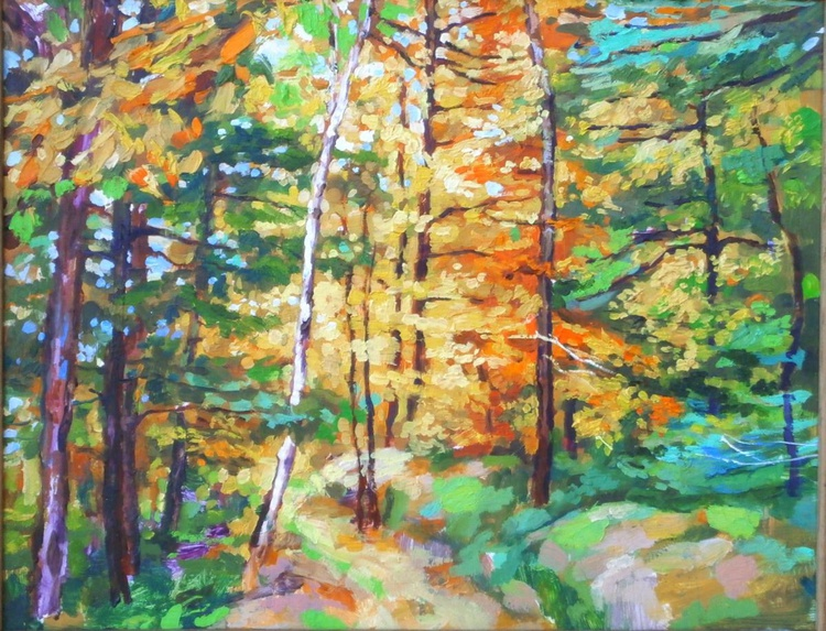 Just a small painting - Path into Autumn - Image 0
