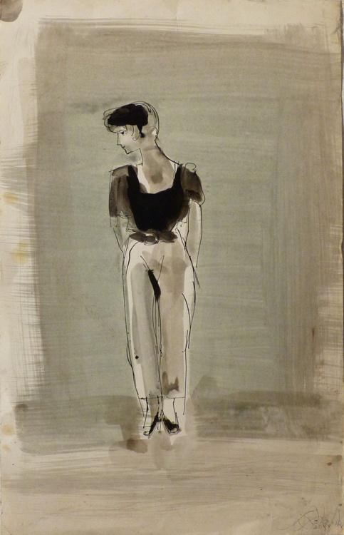 Office Girl 2, 32x50 cm - Image 0