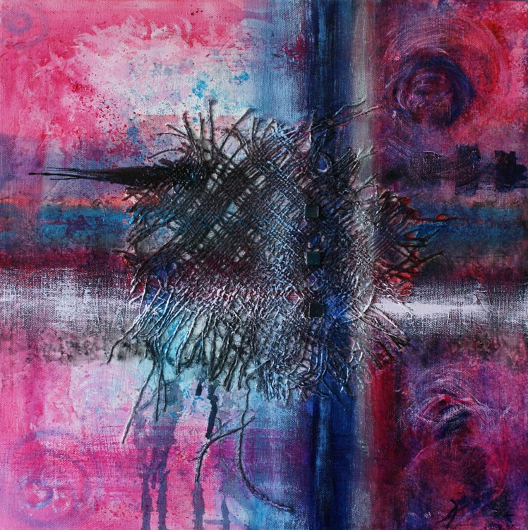 Together 40 x 40 cm /16 x 16ins, mixed media on deep canvas - Image 0