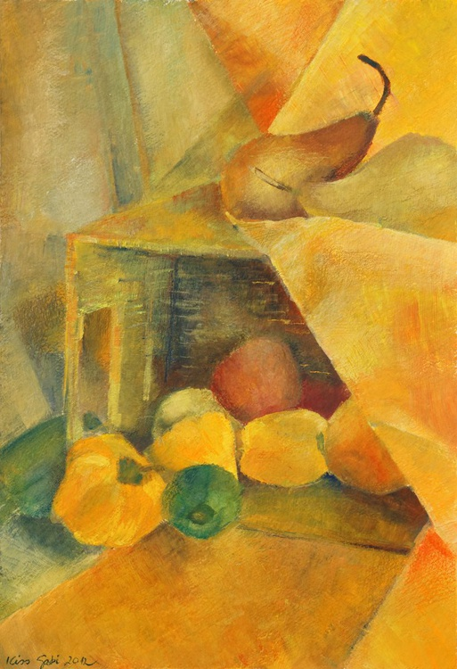 yellow still life (pears and peppers) - Image 0