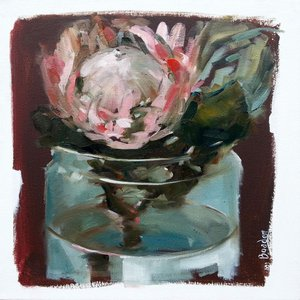 Protea in Glass Jar by Sharleen Boaden