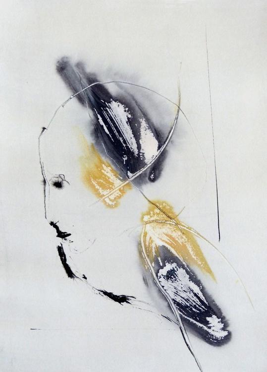 Introspectus #6 , Acrylic on paper 29x41 cm - Image 0