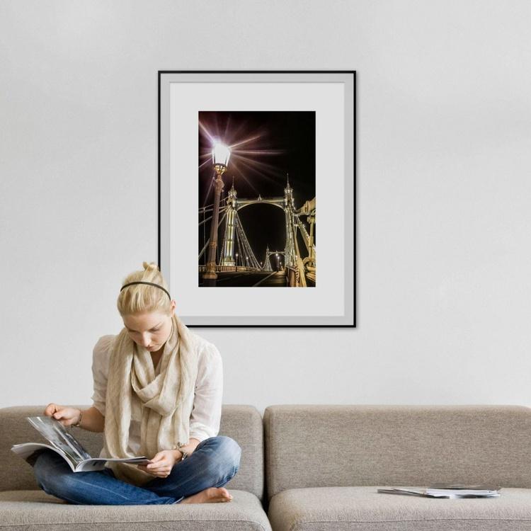 "Albert bridge STREETLAMP (Limited edition  1/20) 20""X30"" - Image 0"