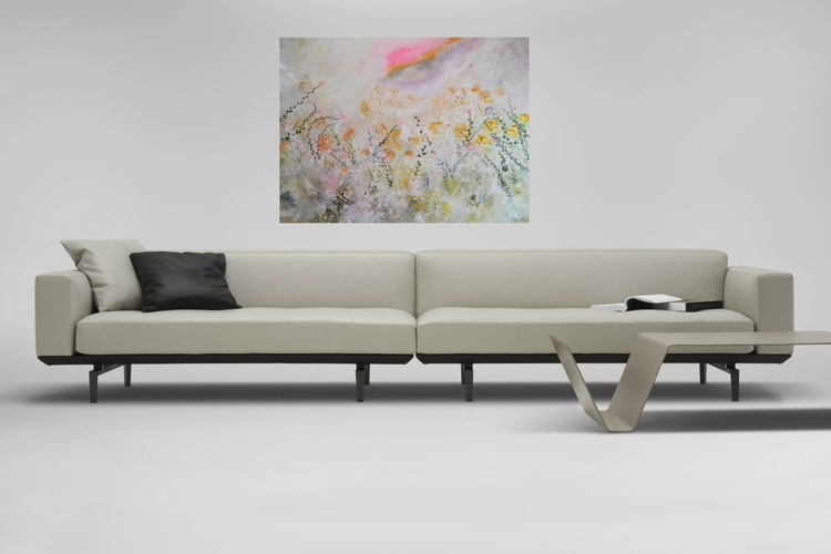 "Large floral abstract ""Secret garden"" - Image 0"