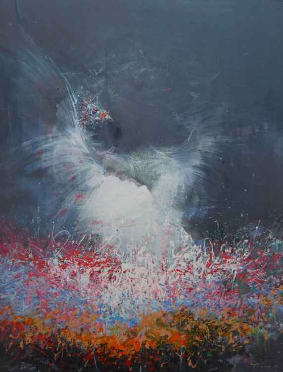 "Contemporary art painting ""Swan"" -"