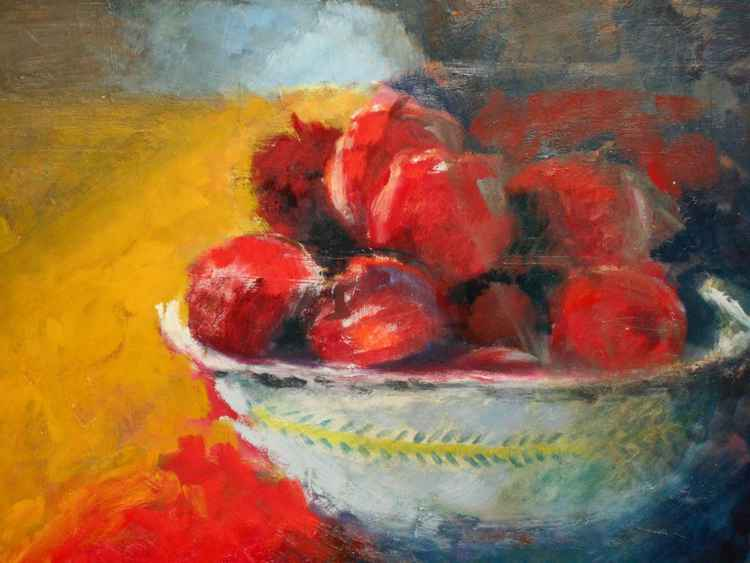 Bowl of Sunlit Apples
