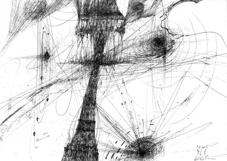 SPONTANE LINES DREAMSCAPE METHALSCAPE MINDSCAPE BY OVIDIU KLOSKA WE ARE ENRGY TRAVELING - Image 0