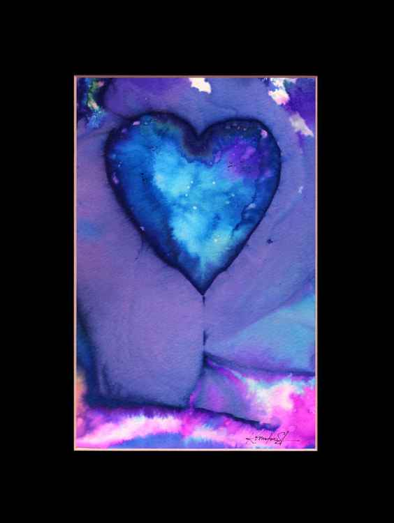 Heart Watercolor Painting, Abstract - Eternal heart No. 16