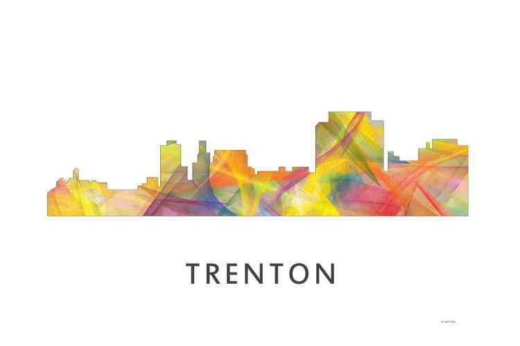 Trenton New Jersey Skyline WB1 -