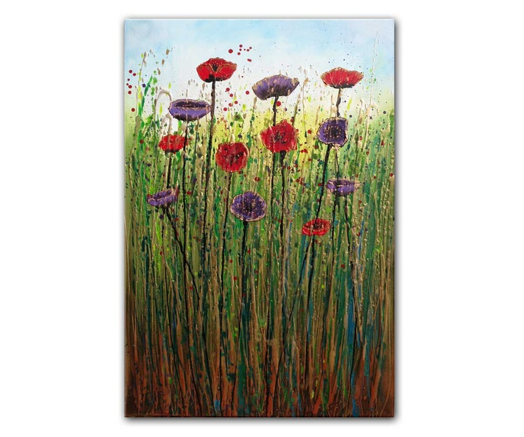 Tall meadow poppies - Image 0