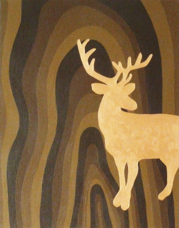Standing Stag Silhouette - Image 0