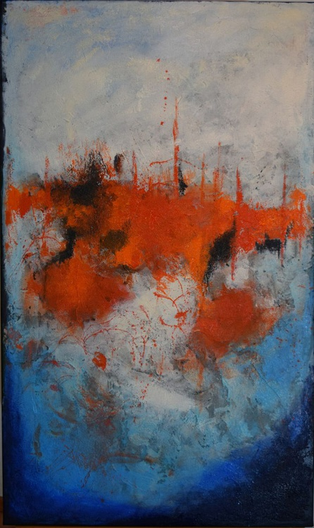 Castle- abstract painting - Image 0