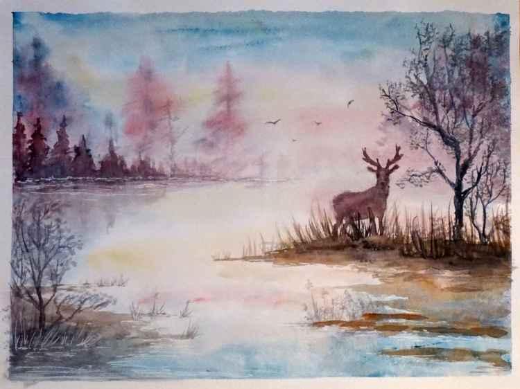 Landscape With A Deer
