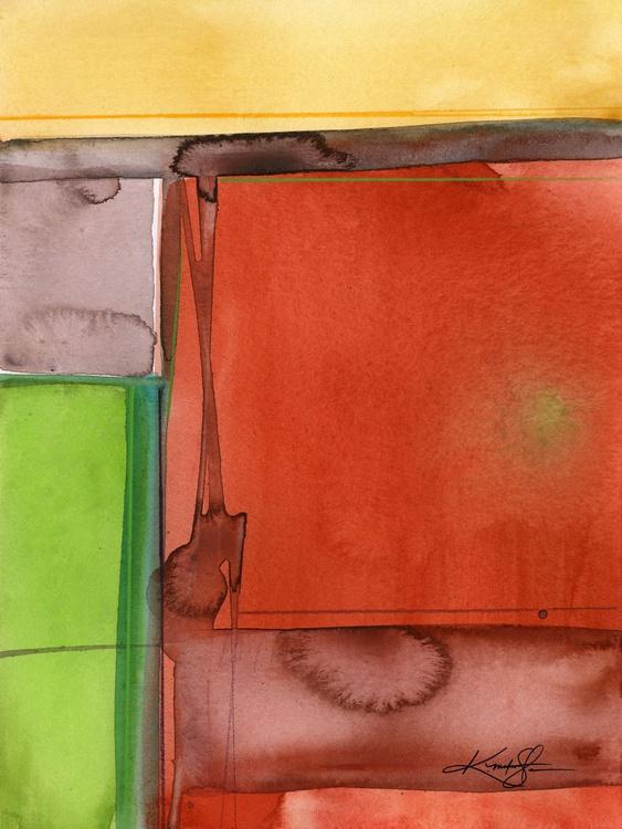 Sacred Balance 5 - Abstract Watercolor Painting - Image 0