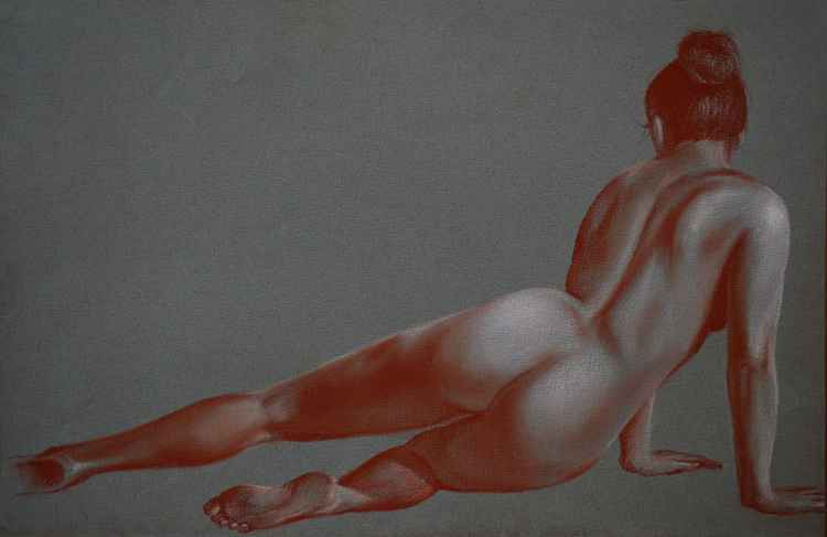 Semi Reclining Nude -