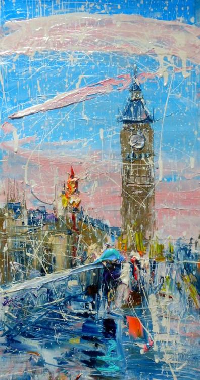 Big Ben, original painting 30x60 cm - Image 0