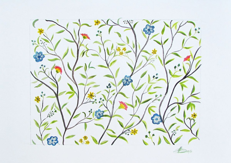 Willow and Flowers - Image 0