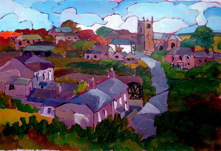 Zennor village view. -