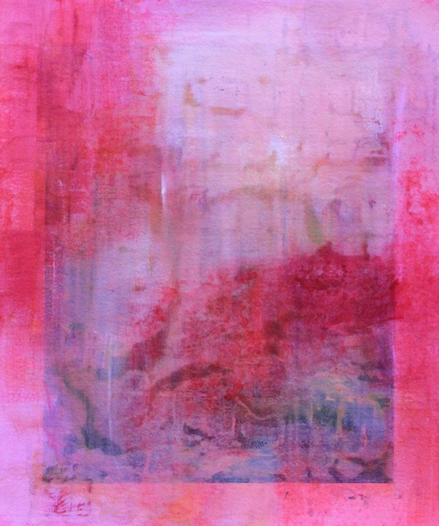 Rose, overpainted dreamscape photograph - Image 0