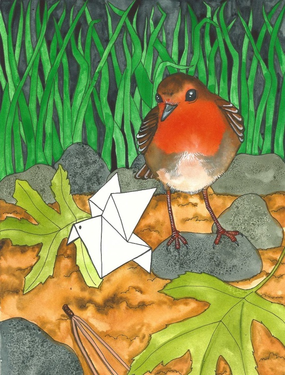 """Illustration 3 from """"Tiny Paper Bird"""" - Image 0"""