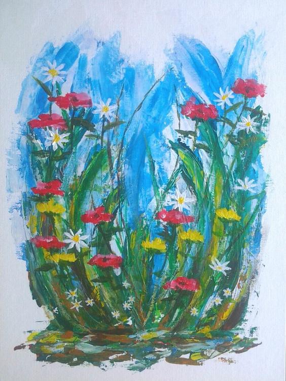 """MEADOW FLOWERS"", 29x39cm - Image 0"