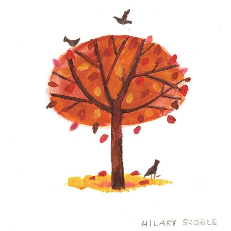 Blackbirds in Autumn - Image 0