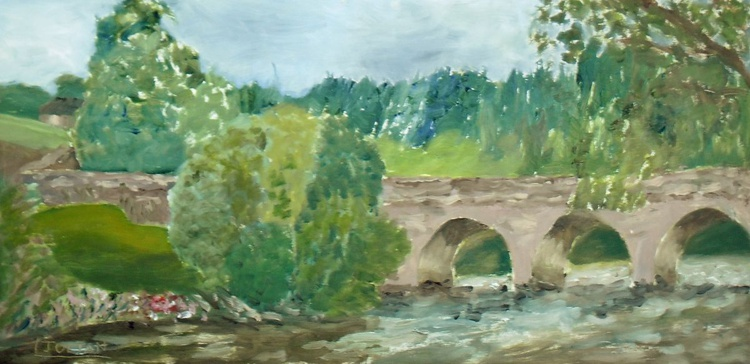 The old bridge at Inistiogue, Ireland - An original oil painting on board. Lovely Gift! - Image 0