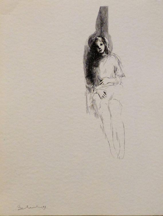 Sitting woman 2, 35x47 cm - Image 0