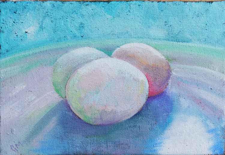 Three Duck Eggs (#6 Postcards from Pembrokeshire) -