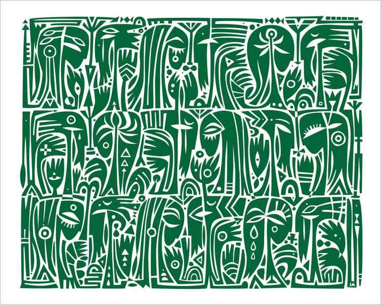 Heads (green) -
