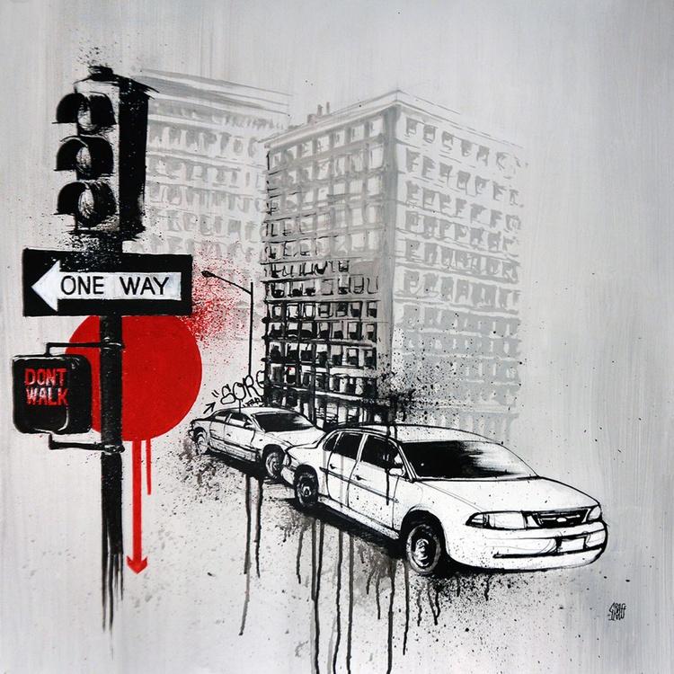 ONE WAY - Urban painting by GRAFFMATT - Image 0