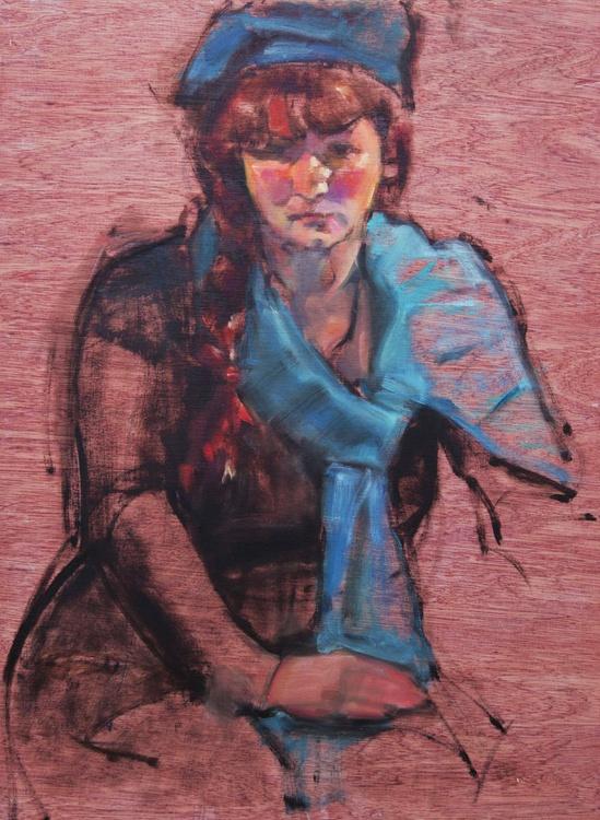 Girl in Blue - Image 0