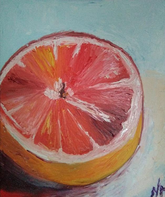 Red orange- 50x60 cm - Image 0